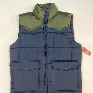 Arizona Mens Puffer Vest Navy Army Green Small